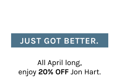 The Jon Hart You Love Just Got Better.