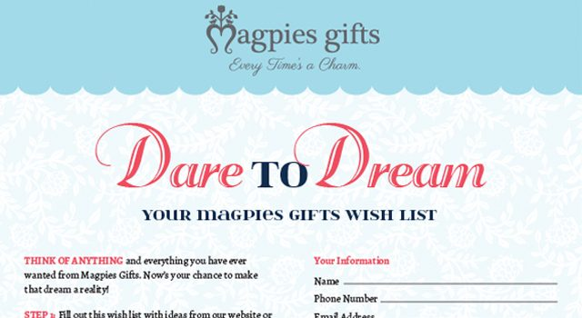 Magpies Gifts | Wish Lists