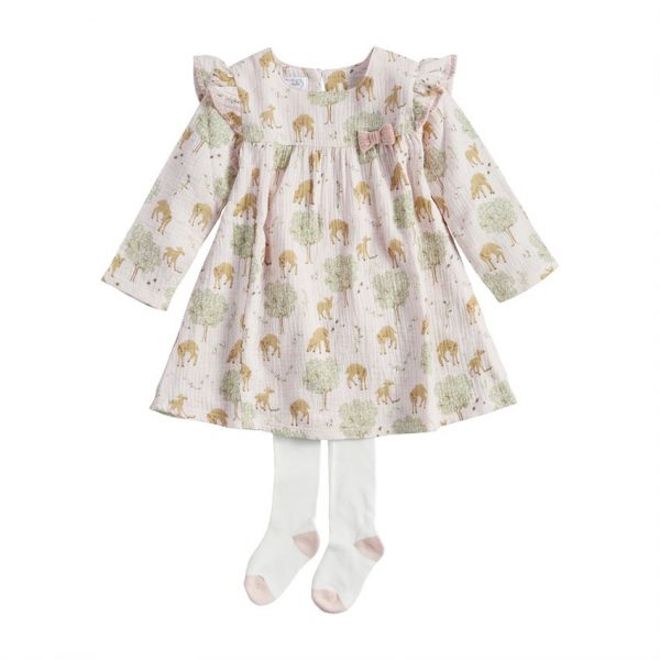 GIRL DEER DRESS AND TIGHTS