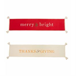 REVERSIBLE HOLIDAY TABLE RUNNER