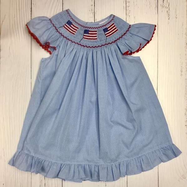 AMERICAN FLAG BISHOP 2 PIECE DRESS
