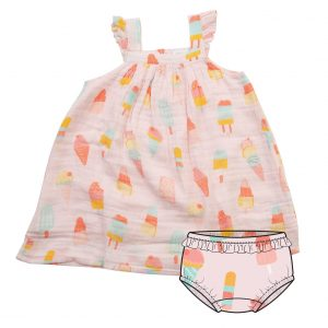 ANGEL DEAR COOL SWEETS SUNDRESS WITH DIAPER COVER