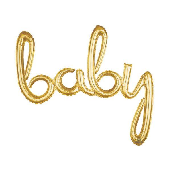 BABY GOLD SCRIPT BALLOON