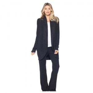BAREFOOT DREAMS CIRCLE CARDI - BLACK