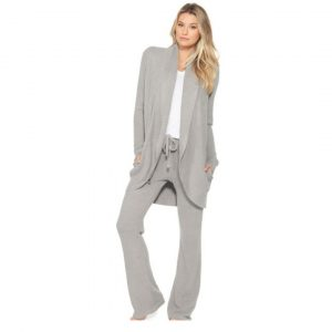 BAREFOOT DREAMS CIRCLE CARDI - PEWTER