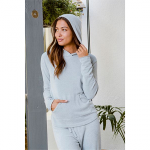 BAREFOOT DREAMS COZYCHIC ULTRA LITE PULLOVER HOODIE - BLUE WATER
