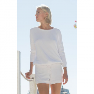 BAREFOOT DREAMS COZYCHIC ULTRA LITE SHORTS - SEA SALT