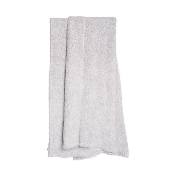 BAREFOOT DREAMS HEATHERED THROW - DOVE
