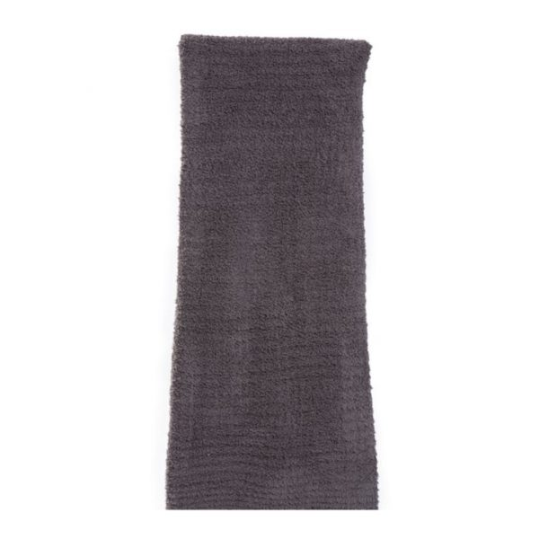 BAREFOOT DREAMS RIBBED THROW - CHARCOAL
