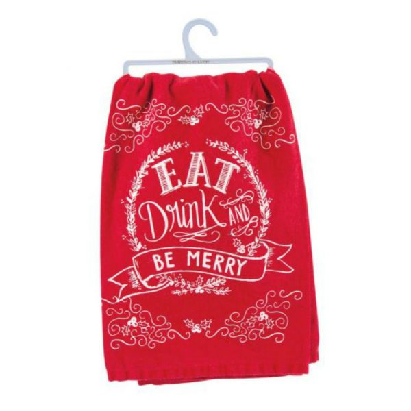 BE MERRY DISH TOWEL
