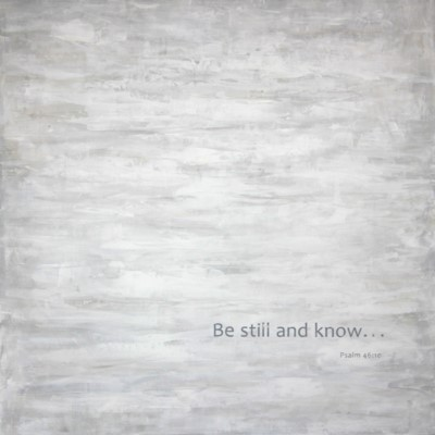 BE STILL AND KNOW WALL DECOR