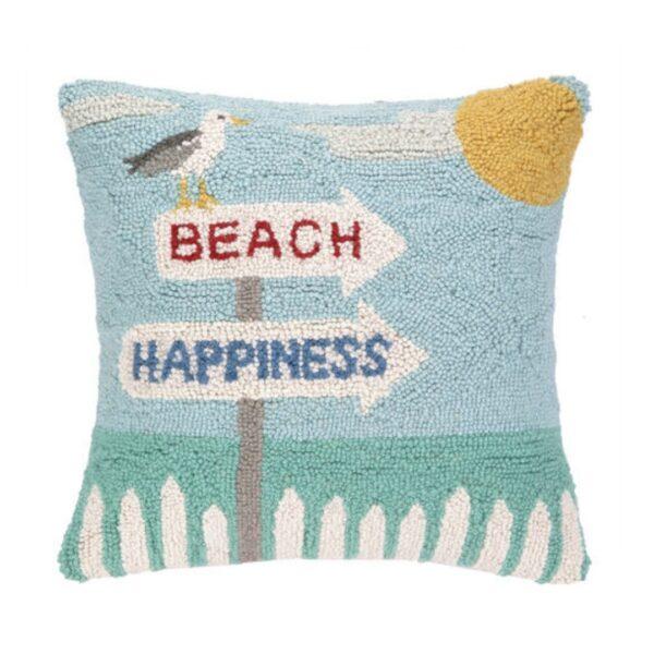 BEACH HAPPINESS HOOK PILLOW