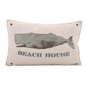 BEACH HOUSE WHALE PILLOW