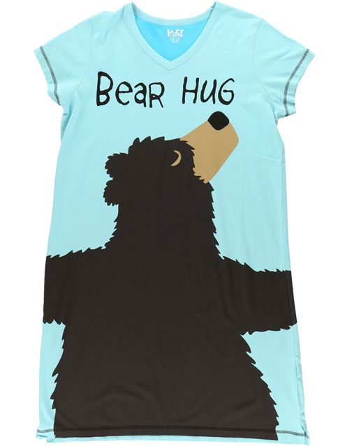 LAZY ONES BEAR HUG ICEBURG BLUE NIGHTSHIRT
