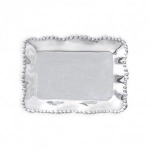 BEATRICE BALL ORGANIC PEARL RECTANGLE TRAY