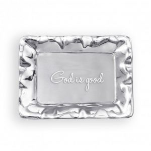 BEATRIZ BALL GOD IS GOOD ENGRAVED TRAY