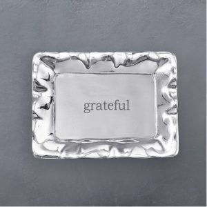 BEATRIZ BALL GRATEFUL ENGRAVED TRAY