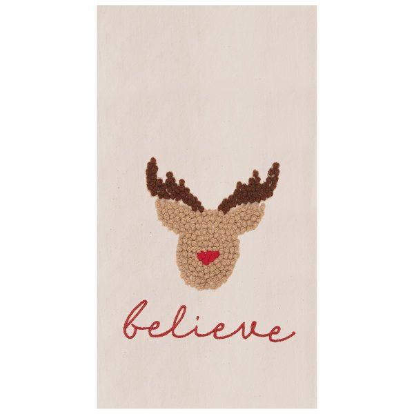 BELIEVE IN REINDEER TOWEL