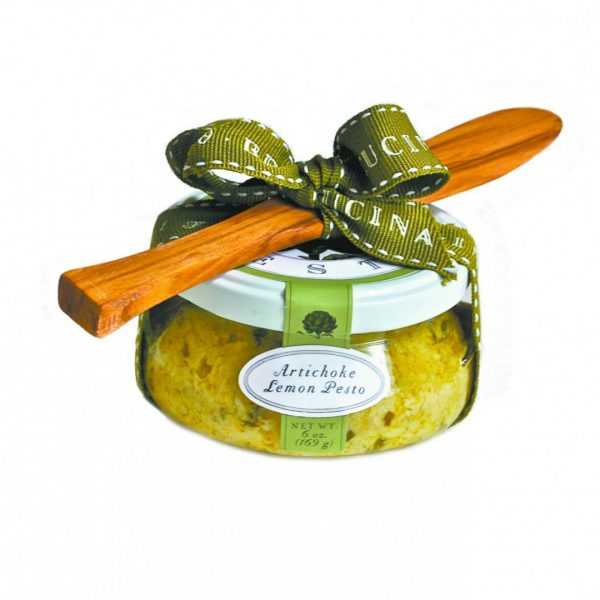 BELLA CUCINA ARTICHOKE LEMON PESTO WITH SPOON
