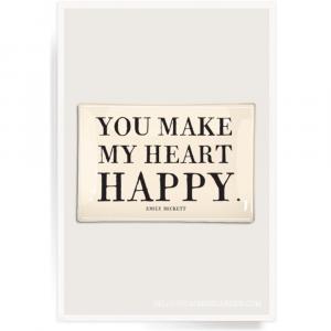 BEN'S GARDEN YOU MAKE MY HEART HAPPY DECOUPAGE TRAY