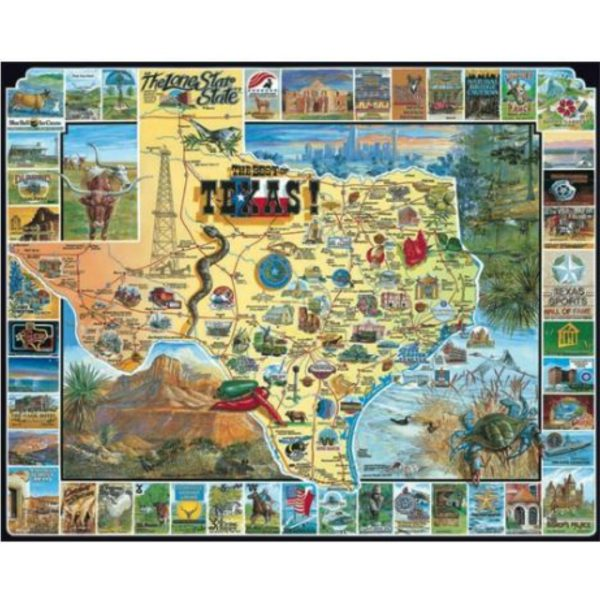 WHITE MOUNTAIN PUZZLES BEST OF TEXAS PUZZLE