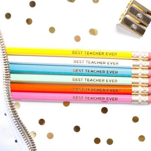 BEST TEACHER EVER PENCILS