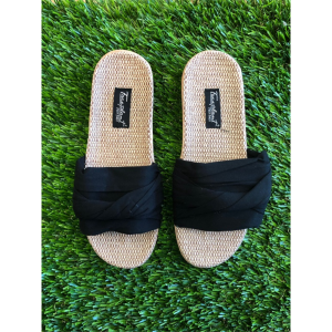 BLACK HEMP BAMBOO SLIDES