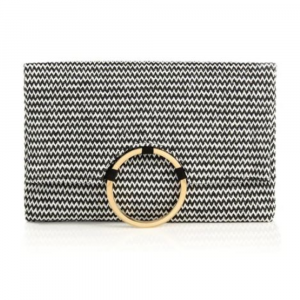 BLACK ROMINA FOLD CLUTCH