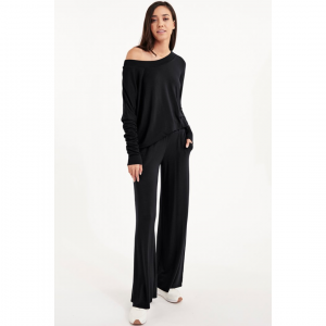 BLACK TOPANGA LOUNGE PANTS