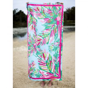 BLUE AND PINK PANAMA BEACH TOWEL