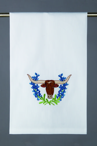 BLUE BONNET LONGHORN TOWEL