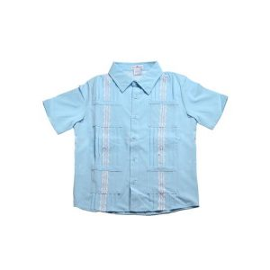 BLUE QUAIL GUAYA SKY BLUE AND WHITE SHIRT