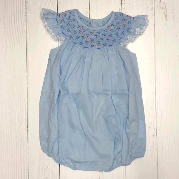 BLUE SMOCKED ANGEL WING BUBBLE