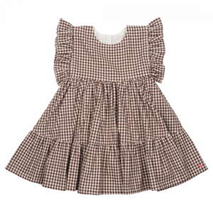 BROWN GINGHAM KIT DRESS