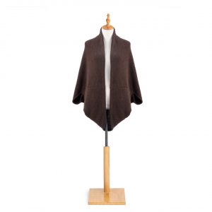 BROWN KNIT COCOON