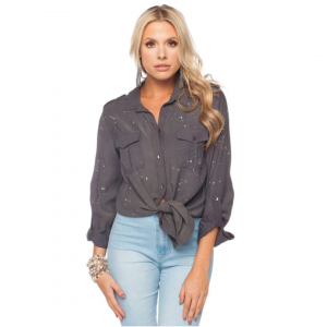 BUDDY LOVE CHARCOAL ROBIN TOP