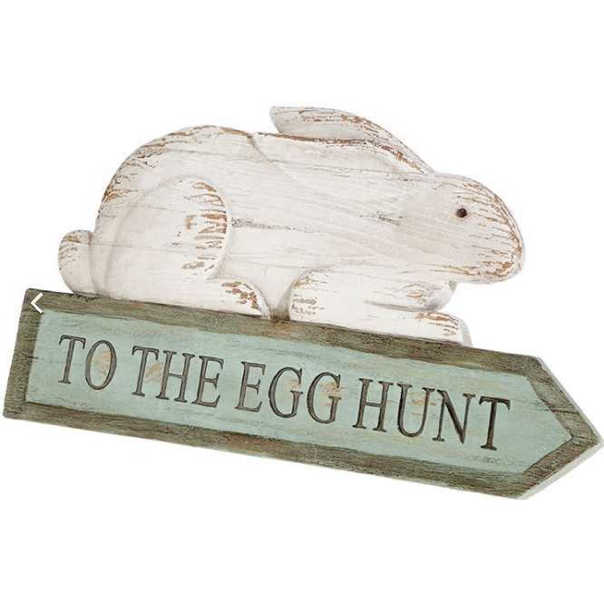 BUNNY EGG HUNT SIGN