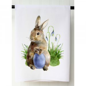 BUNNY WITH EGG FLOUR SACK TOWEL