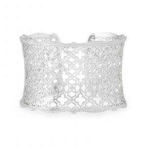 KENDRA SCOTT CANDICE CUFF IN RHODIUM