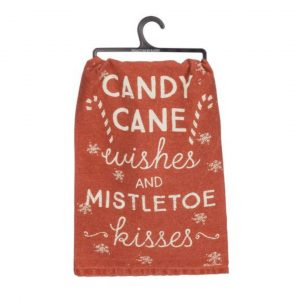 CANDY CANE WISHES DISH TOWEL