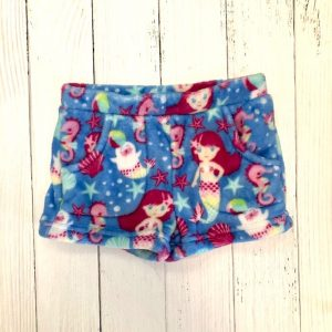 CANDY PINK BLUE MERMAID SHORTS