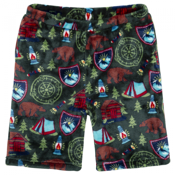 CANDY PINK BOYS GREEN CAMPING SHORTS