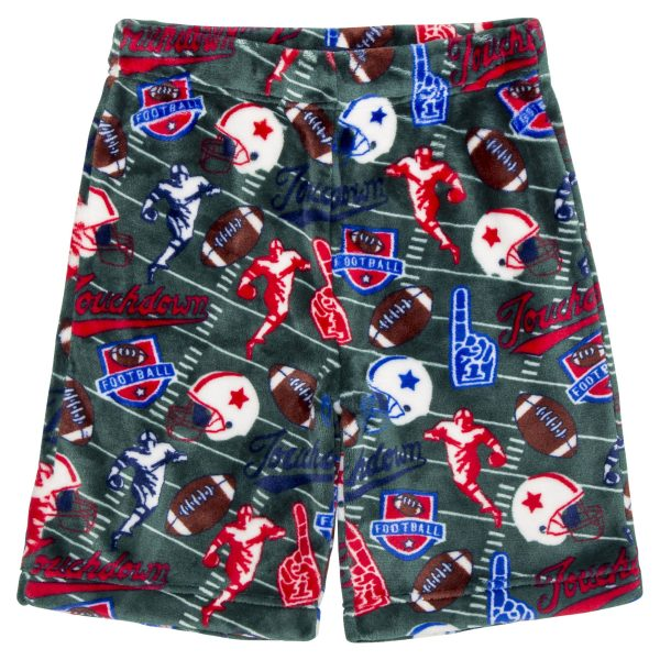 CANDY PINK BOYS GREEN FOOTBALL SHORTS