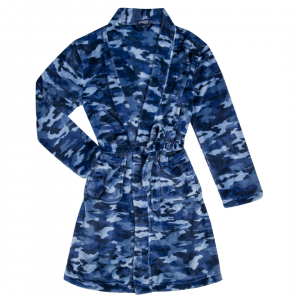 CANDY PINK BOYS NAVY CAMO ROBE