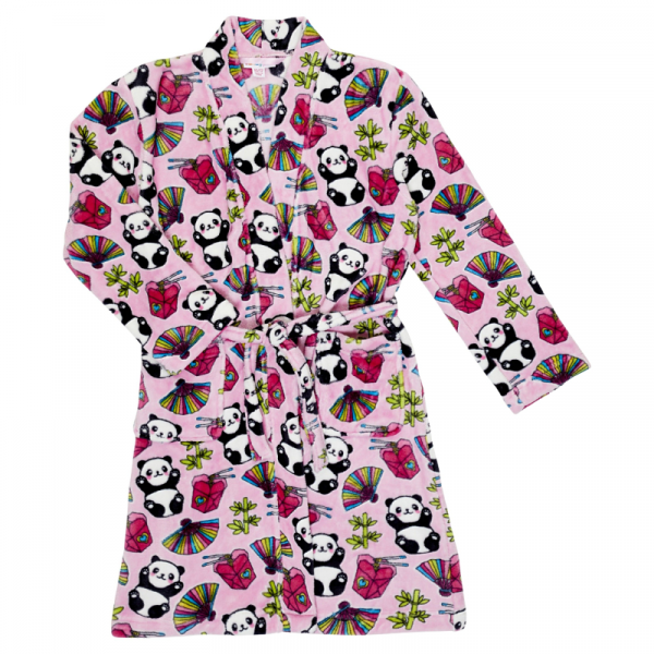 CANDY PINK GIRLS PINK PANDA ROBE
