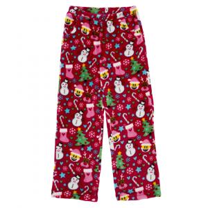 CANDY PINK GIRLS RED EMOJI XMAS PANTS