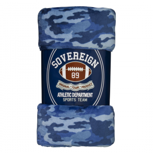 CANDY PINK NAVY CAMO BLANKET