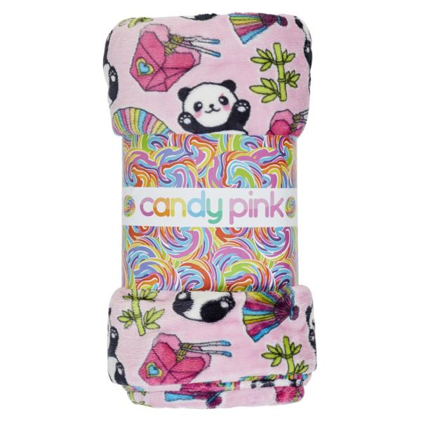 CANDY PINK PINK PANDA BLANKET
