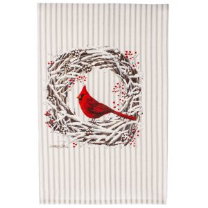 CARIDNAL SNOWY TEA TOWEL