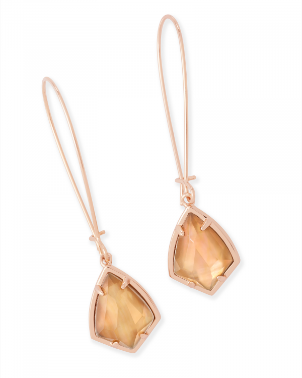 KENDRA SCOTT CARINNE EARRING IN ROSE GOLD